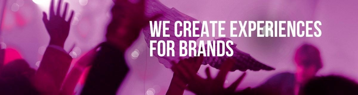 Agency Slogan - we create experiences for brands