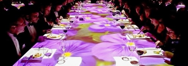 High-Touch Technology : Table Projection for Gala Dinner