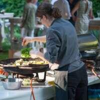 VIP event - Outdoor kitchen chief seasoning food