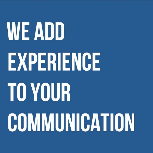 we add experience to your communication
